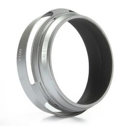 lentes de capuz Desconto Top Quality Metal Silver 49mm LH-JX100 Lens Hood LA-49X100 Adaptador Anel para Fuji Fujifilm X100 X100s Nova ordem $ 18no track