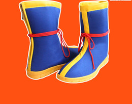 Wholesale Dragon Ball Costume Cosplay - Wholesale-Free shipping Anime DRAGON BALL Son Goku cosplay Boots Exquisite Cartoon Canvas shoes