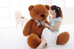 Wholesale Large Stuffed Bears - hot new Large 1.6 Meters Teddy Bear Lovers Big bear Arms Stuffed Animals Toys Plush Doll retails Valentine's gift new Year's gift