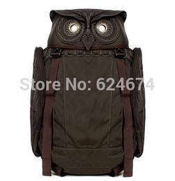 Wholesale Backpack Middle School - Wholesale-Free shipping new 2015 fashion men's backpack Owl backpack middle school bag travel bag large capacity backpack men bag