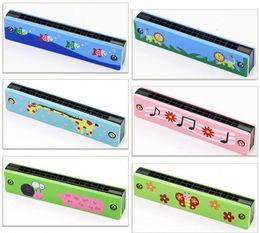 Armónica musical online-16 Agujeros Armónicas Muchos Estilos Musical Early Educational Toy Cartoon Diseño Creativo Harmonica Gift 3 56hh C R
