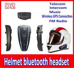 Wholesale Speakers For Motorcycles - helmet bluetooth headset 500M BT Intercom Headset Helmet Bluetooth Interphone For Motorbike Motorcycle hand free Headset Speaker Helmet
