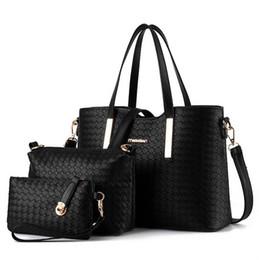 Wholesale Cheap Girls Handbags - 3pcs 2015 New Fashion Women's Handbag Bag Purses PU Leather Shoulder Bags Girls Cheap Designer Handbag Messenger Totes 7 Colors
