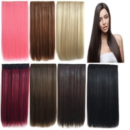 Wholesale Red Hair Wigs Pieces - 2017 new Long straight natural looking straight hair piece behind wig full hair lace wig for african americans woman12-26inch heat res