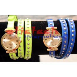 Wholesale Ems Repeater - by dhl or ems 200pcs 2015 new Vintage watches for women leather long leather strap quartz watch Top Woman watches