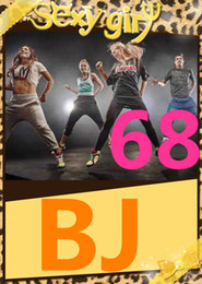 Wholesale Dance Aerobics Dvd - on Hot Sale New Routine Course BJ 68 Aerobics Fitness Exercise Comprehensive Latin Hip hop Dance BJ68 Video DVD + Music CD Free Shipping