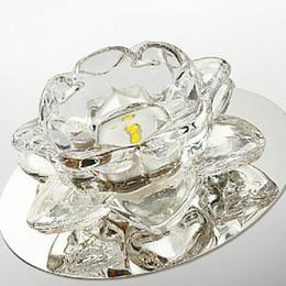 Wholesale Led Lotus Crystal Lamp - Wholesale-Lotus Fashion Modern LED Crystal ceiling Light Lamp Lustre Home Lighting Free Shipping