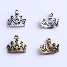 Wholesale Imperial Copper - 2016 Hot Sale Silver Copper retro Imperial Crown Pendant Manufacture DIY jewelry pendant fit Necklace or Bracelets charm 1200pcs lot 1054x