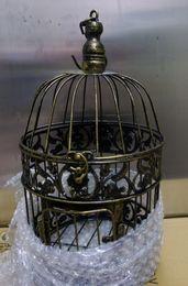 Cages à oiseaux pour les mariages en Ligne-Bronze cages décoratives en fer gaiola cages à oiseaux décoratifs mariages remise cages à oiseaux livraison gratuite