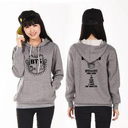 Wholesale Korean Boy S - K-pop Sweatshirt Clothes T-shirt Women Sportswear Bangtan Boys Album Bts Poster Seventeen Kpop Korean Hoodie Collar Stand Sudaderas Shirt