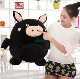 Wholesale Stuffed Black Pig - Dorimytrader 24''   60cm Funny Pig Doll Stuffed Soft Plush Giant Cartoon Pigs Toy 2 Colors Nice Gift for Babies Free Shipping DY60885
