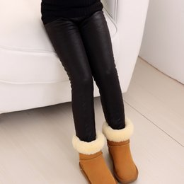 Wholesale Girls Beat - Girls Keep Warm Leggings Thicken Street Beat Vacation Essential Natural Gradient Gloden Winter Hot Cotton Blends Major Solid