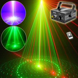 Wholesale Big Red Laser - New Mini IR Remote 9 Big Patterns Red Green Laser & BLUE LED Stage Lighting DJ Home Xmas Party Holiday Show Lights Z09RG