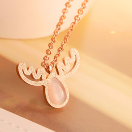 Wholesale Diamant Necklace - custom pendant New Fashion Woman stone Jewelry Silver Chain Clear Pink Opal Apples Necklace Pendants Crystal Faux Diamant Lovely Necklaces
