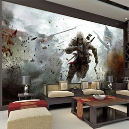 Wholesale Free Photo Poster - Game View Wall Mural Assassins Creed Photo wallpaper HD Wall Stickers Silk poster living room Bedroom Children's Room Free shipping