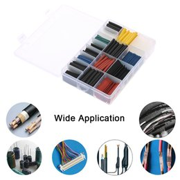 Wholesale Wire Sleeving - 580PCS heat shrink Tubing Assorted 2:1 Polyolefin heat shrink tube Halogen-Free cable sleeve Sleeving Wrap Wire Cable Kit