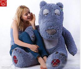 Wholesale Large Stuffed Bears - 2015 Sleepy Teddy Bear Large 1.5M Hug Bear plush toy toys doll large lovely birthday gift Valentine Day Plus Animals Stuffed Gifts Factory