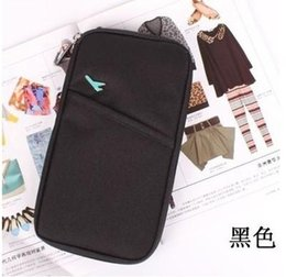 Wholesale Zipper Document Case - Wholesale-HOT fashion Travel Document Wallet Journey Fabric Passport ID Card Holder Case Cover Wallet Purse Organizer G0306