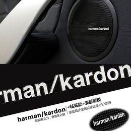 Wholesale Volkswagen Black - harman kardon marked change Speaker decorative stickers For BMW MINI COOPER S Clubman volkswagen vw jetta passat b5 golf mk7