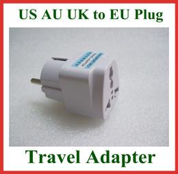 Wholesale Travel Wholesalers Usa - 5pcs Universal Travel Adapter Australia AU   USA US   UK to EU Plug Wall AC Power Adapter 250V 10A Socket Converter