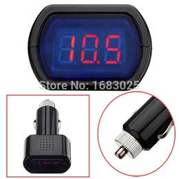 Wholesale Truck Battery Voltage Meter - High Quality DCDigital LED Car Truck Battery Voltage Electric Meter Monitor Indicator Gauge Voltmeter 12V 24V Free Shipping