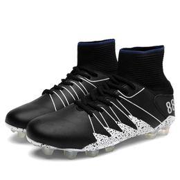 Argentina Zapatos de fútbol de tobillo alto para hombre de moda Al aire libre Elástico antideslizante Antideslizante Botas de fútbol Zapatos Suministro