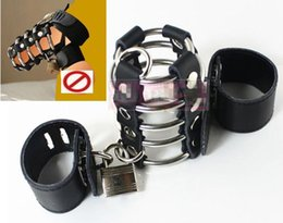 Wholesale Chasity Cock Cages - cock rings cages for male penis cbt device adult sex toys for men ball torture bondage chasity devices