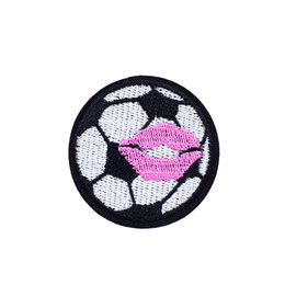 Wholesale Iron Patches Football - 10PCS Football Embroidered Patches for Clothing Iron on Transfer Applique Patch for Jeans Bags DIY Sew on Embroidery Kids Stickers