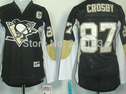 Wholesale Sidney Crosby Cheap Jersey - Cheap Womens ICE Hockey Jerseys Women Pittsburgh Penguins Hockey Jersey 87 Sidney Crosby C Patch Wholesale