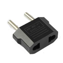 Wholesale Usa European Plug Adapter - US EU to EU AU AC Power Plug Converter Adapter Adaptor USA to European Black Plastic Travel Converter