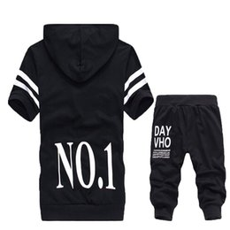 Wholesale Bamboo Boy Shorts - 2015 summer fashion men's casual sports suit ,Short-sleeved cardigan hooded sportswear,Boy casual uniforms sports set M-XXXL91
