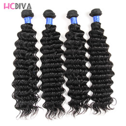 Wholesale Brazilian Virgin Stright - Brazilian Virgin Human Hair deep wave 4 Bundles Kinky Curly Human Hair Weave Stright Body Wave Curly Brazilian Peruvian Malaysian Indian