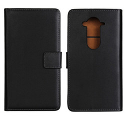 Wholesale E3 Card - Wholesale Black High Quality Genuine Leather Wallet Case For Acer Liquid E3 E380 with Book Stand Style Card Holder Phone Bag Free