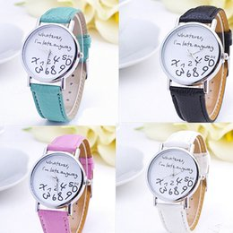 Wholesale Late Glass - 2016 New Style Whatever I'm late anyway Irregular Figure High Quality Women Wristwatch Fashion Quartz ladies watches dress