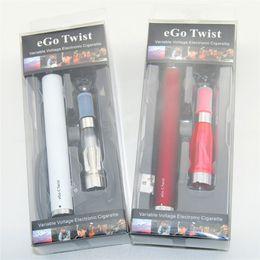 Wholesale Ego C Blister Packs - New eGo-C Twist Electronic Cigarette eGo Kit CE4 Blister Pack 650mAh 900mAh 1100mAh 1300mAh Variable Voltage eGo-Twist Battery for DHL free