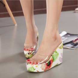 Wholesale Chinese Summer Sandals - Wholesale-Summer High Heels Women Gladiator Sandals Platform Women High Chinese Style Wedges Jelly Shoes Female Trifle Open Toe Sandals
