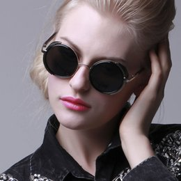 Wholesale Ancient Sunglasses - 2016 Oscar sunglasses of latest trends Paris fashion week Star style restoring ancient ways round metal frame sunglasses