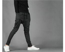 Wholesale Athletic Hip Hop Dance - Wholesale-Men Women Unisex Casual Athletic Hip Hop Dance Sporty Harem Baggy Tapered Sport Sweat Pants Trousers Sweatpants Slacks Joggers