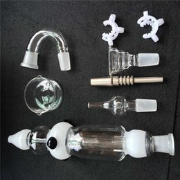 Wholesale Retail Dish - Nectar Collector With Honey Straw + Glass mouthpiece + Titanium Nail + Quartz nail + glass dish + Plastic Clip + Free Retail packaging