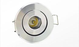 Wholesale Recessed Ceiling Light Led 1w - Free shipping 2015 newest high power LED mini round circle Recessed Ceiling Down light 3W LED cabinet lamp white aluminum