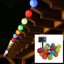 Wholesale Led Garden Lantern Lights - 20 Lantern Ball Light Solar Powered Christmas String Lights for Outdoor, Patio, Garden, Holiday, Party, Wedding String Light Fairy Lanterns