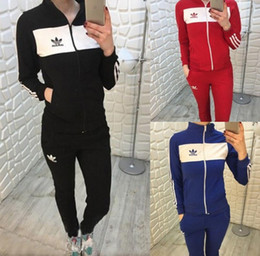 Wholesale Gift Sleeve - Fashionable Popular Style New sport Pure color straight pant leisure long-sleeved two-piece suit leisure sports - Free Shipping + Free Gift