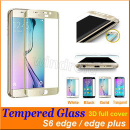 Wholesale Cheapest 3d Glasses - Cheapest for samsung galaxy s6 S7 edge plus 0.3mm Full Cover 3D Curved Silk-screen 9h Film tempered glass screen protector with package 200