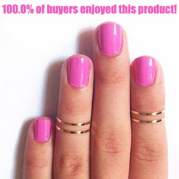 Wholesale Jewelry For Finger Joint - Wholesale-1pcs Silver Joint Rings Brief Thin Gold Plated Midi Knuckle Finger Ring for Women 14 15 16mm Fashion Jewelry