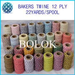 Wholesale Divine Twine - Free shipping (28pcs Lot)36 kinds color Double color cotton Baker twine (22yards spool) Divine twine