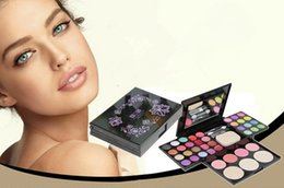 2019 теневая помада AIDIS cosmetic container dressing case 24 colors Eye shadow +8colors lipstick +4 colors blush +3colors Pressed powder дешево теневая помада