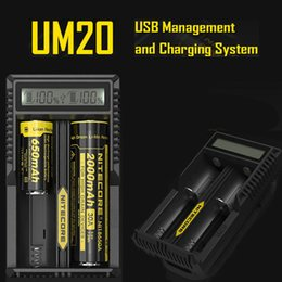 Wholesale Portable Device Chargers - 2015 New Nitecore Charger Battery Charger Nitecore UM20 Digicharger LCD Display portable universal charger device w  usb cable