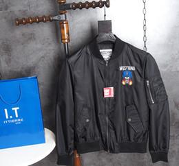 Wholesale Collar Bear - 2017 Top quality Italy Jackets small bear print eyes future streetwear mens designer shirts black