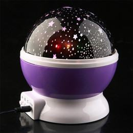 Wholesale Kids Night Lights Projector - moon and star led projection led night light kids room lighting toy projector Ambient Light good sleeping infant room light birthday gift
