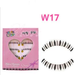 Wholesale false bottom - W-17 5pairs box Pairs Natural Long Thin Bottom False Eyelashes Eye Lash Clear Different Lower Fake Eye Lashes Makeup Tools For Women Girls